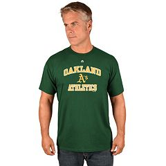 Men's Majestic Oakland Athletics Heart & Soul Tee