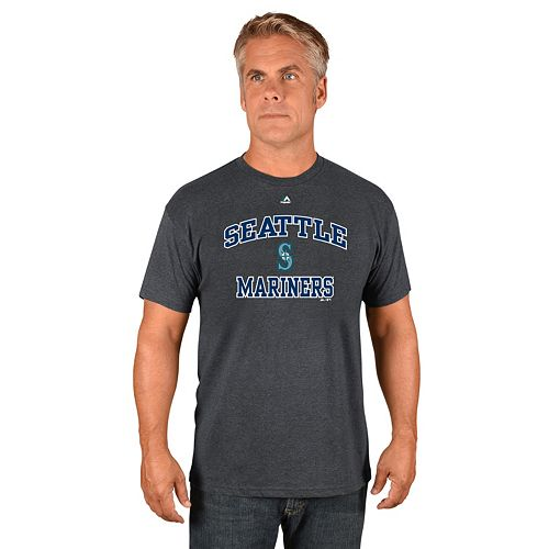 Men's Majestic Seattle Mariners Heart & Soul Tee