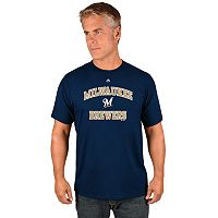Men's Majestic Milwaukee Brewers Heart & Soul Tee