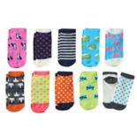 Girls 4-16 Pink Cookie 10 pkCritter Low-Cut Socks