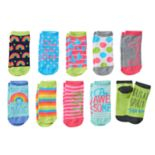 "Girls 4-16 Pink Cookie 10-pk. ""Make Your Magic"" Low-Cut Socks"