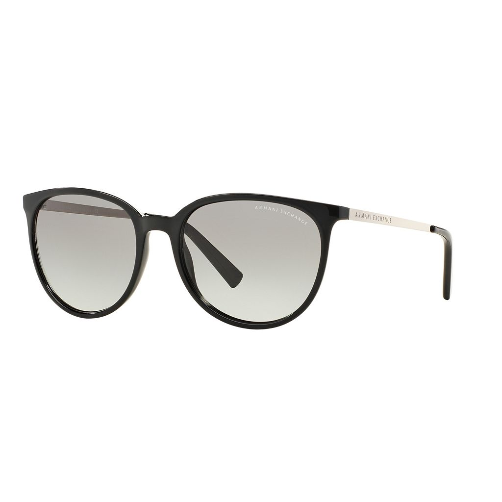 Armani Exchange Forever Young AX4048S 56mm Round Gradient Sunglasses
