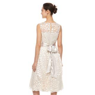 Women's Jessica Howard Embellished Floral Fit & Flare Dress