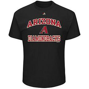 Men's Majestic Arizona Diamondbacks Heart & Soul Tee