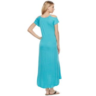 Women's Juicy Couture Embellished Cold-Shoulder Maxi Dress