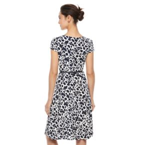 Women's Jessica Howard Abstract Geometric Fit & Flare Dress