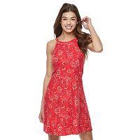 Juniors' Mudd® Print Strappy Halter Dress
