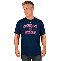 Men's Majestic Cleveland Indians Heart & Soul Tee