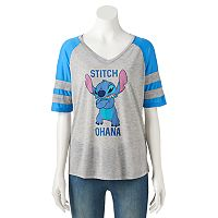 Disney's Lilo & Stitch Juniors' Colorblock Graphic Tee