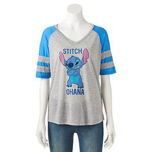 Disney's Lilo & Stitch Juniors' Colorblock Graphic Tee