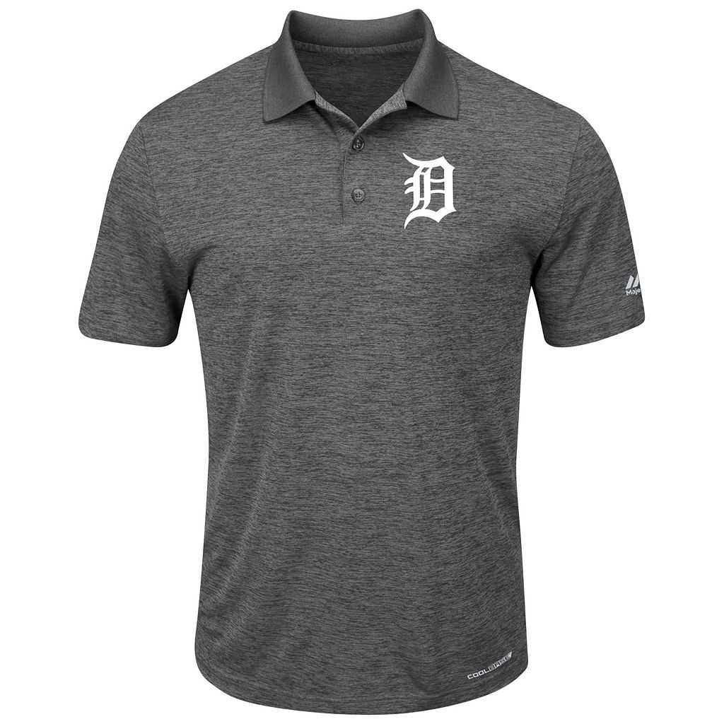 Men's Majestic Detroit Tigers Hit First Polo