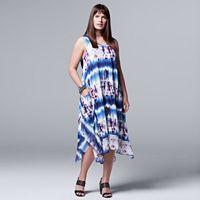 Plus Size Simply Vera Vera Wang Tie-Dye Midi Dress