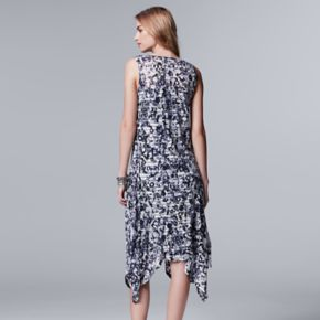 Women's Simply Vera Vera Wang Print Shadow-Stripe Midi Dress
