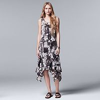 Women's Simply Vera Vera Wang Print Shadow-Stripe Midi Dress