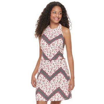 Juniors' Candie's® Open Back Halter Dress