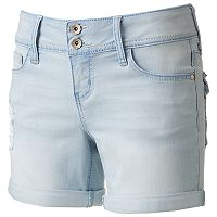 Juniors' Hydraulic Lola 2-Button Midi Shorts