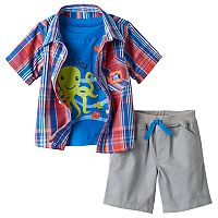 Baby Boy Boyzwear Plaid Shirt & Shorts Set