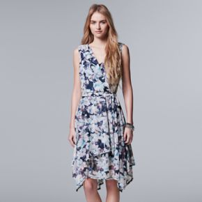 Women's Simply Vera Vera Wang Floral Faux-Wrap Dress