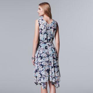 Women's Simply Vera Vera Wang Floral Faux-Wrap Dress