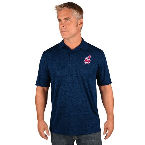 Men's Majestic Cleveland Indians Hit First Polo