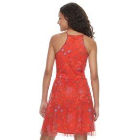 Juniors' Candie's® Mesh High Neck Dress
