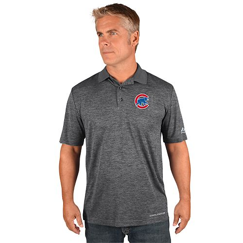 Men's Majestic Chicago Cubs Hit First Polo