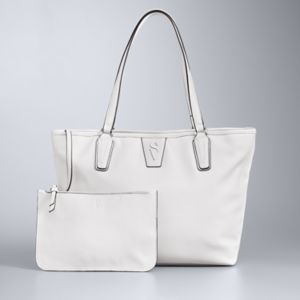 Simply Vera Vera Wang Signature Tote with Attached Pouch