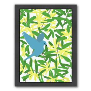 "Americanflat ""Acacia and Mountain Bluebird"" Framed Wall Art"