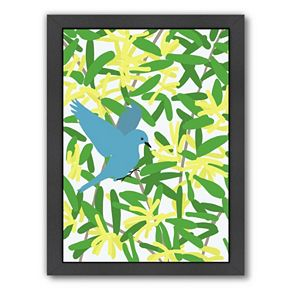 "Americanflat ""Acacia and Mountain Bluebird"" Framed Wall Art"