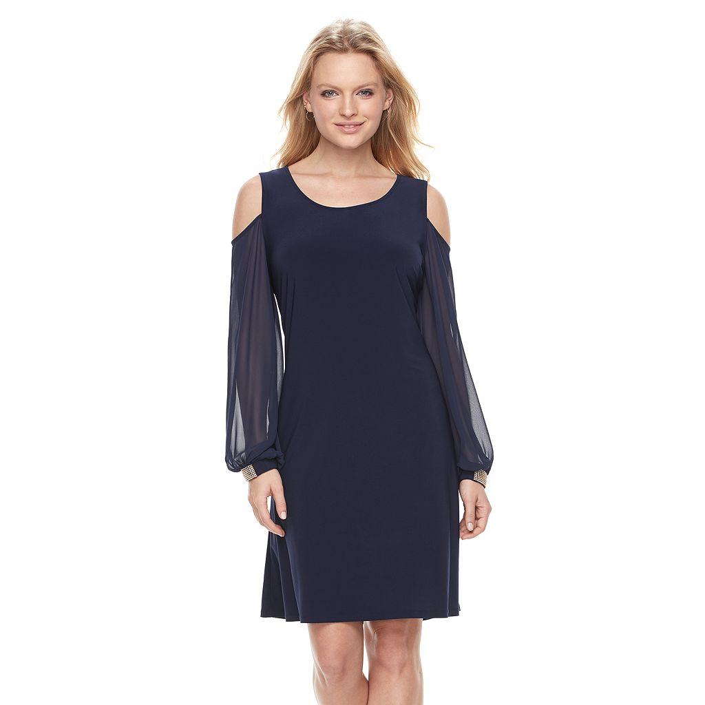 Women's MSK Cold-Shoulder Shift Dress