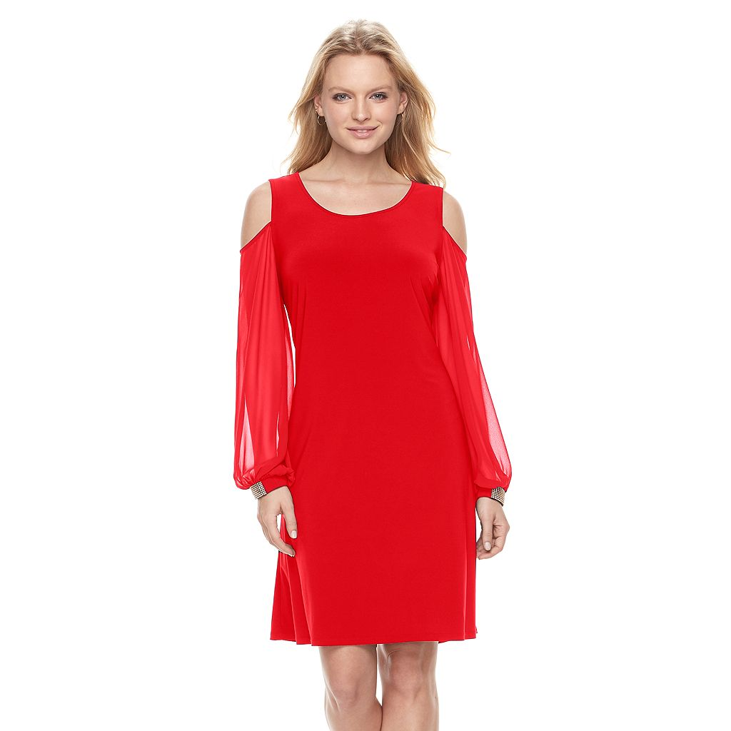 Women's MSK Cold-Shoulder Shift Dress