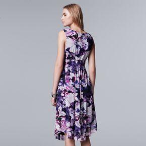 Women's Simply Vera Vera Wang Floral Mesh A-Line Dress