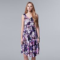 Women's Simply Vera Vera Wang Floral Mesh A-Line Dress