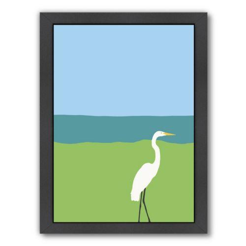 Americanflat Egret Framed Wall Art