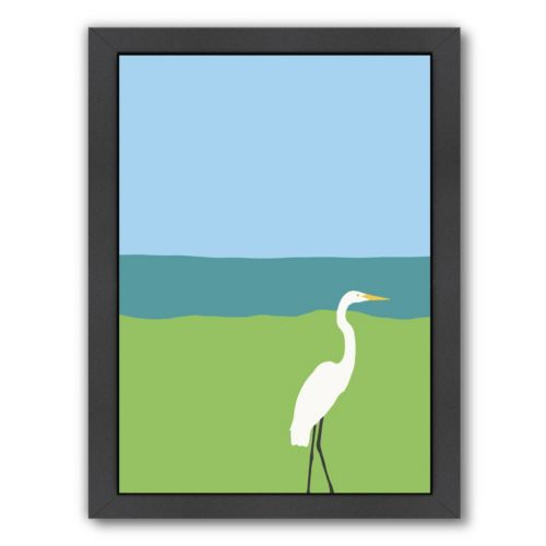"Americanflat ""Egret"" Framed Wall Art"
