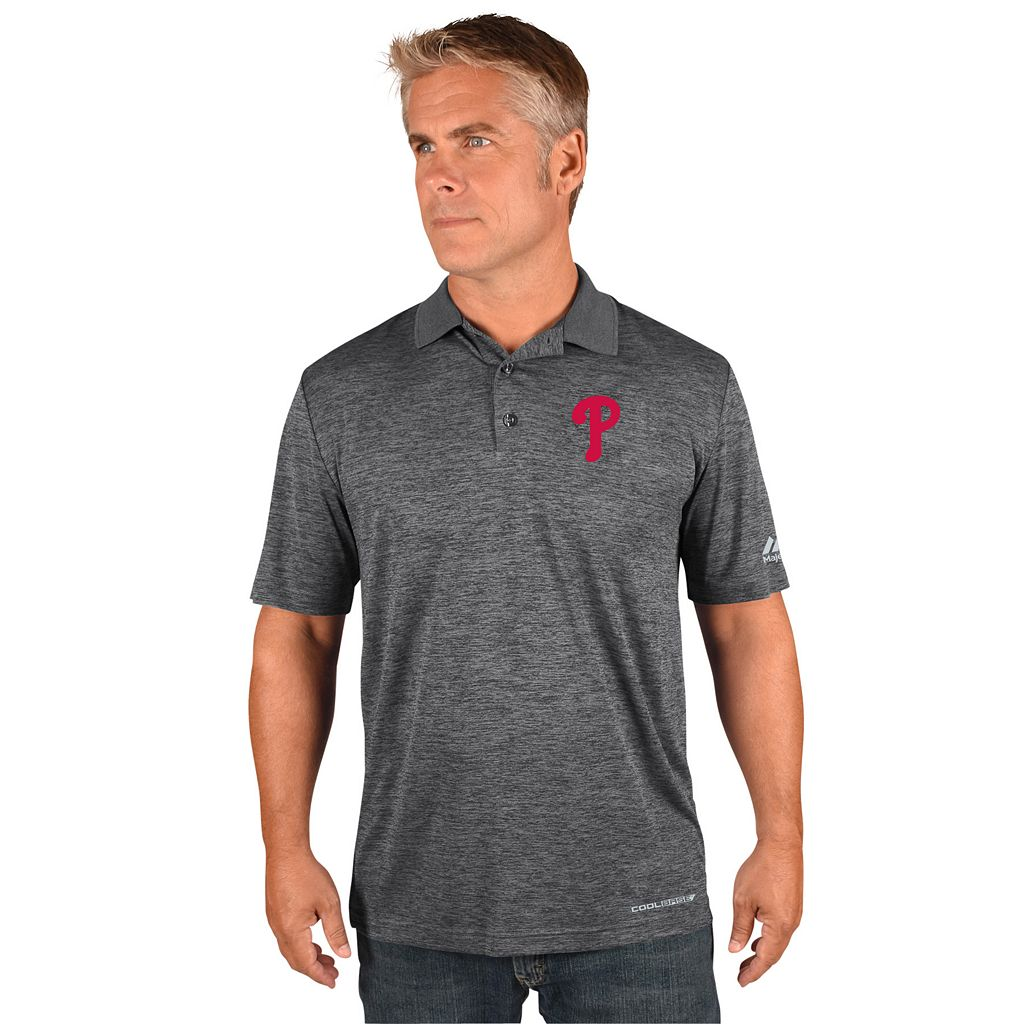 Men's Majestic Philadelphia Phillies Hit First Polo