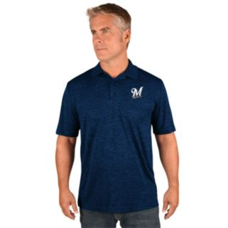 Men's Majestic Milwaukee Brewers Hit First Polo