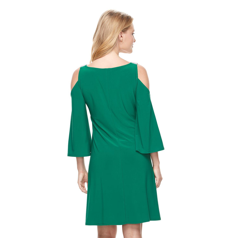 Womens Cold Shoulder 3/4 Sleeve Dresses, Clothing | Kohl\'s