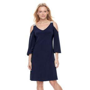Women's MSK Embellished Cold-Shoulder Shift Dress