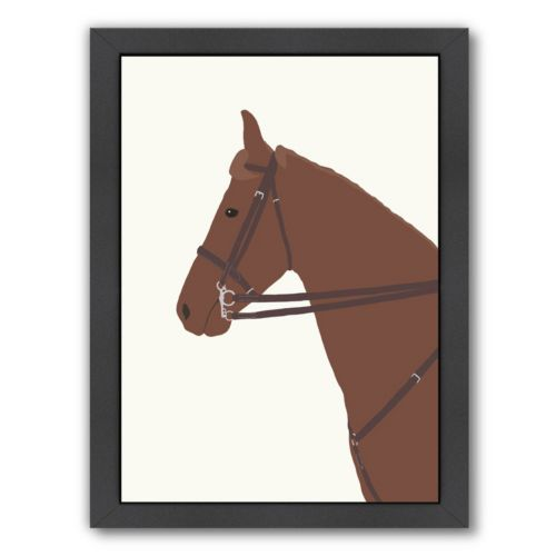 Americanflat Police Horse Framed Wall Art