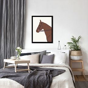 "Americanflat ""Police Horse"" Framed Wall Art"