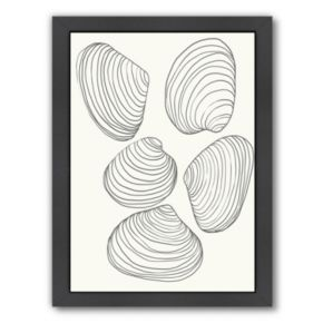 """Americanflat """"Clams"""" Framed Wall Art"""