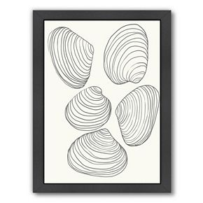 "Americanflat ""Clams"" Framed Wall Art"