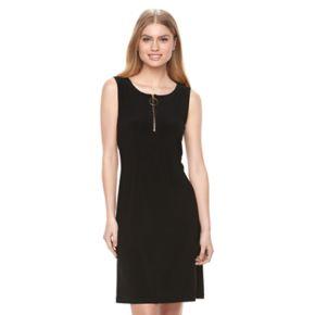 Women's MSK Zipper Shift Dress