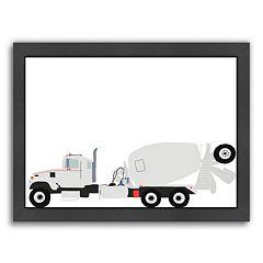 Americanflat 'Cement Mixer' Framed Wall Art