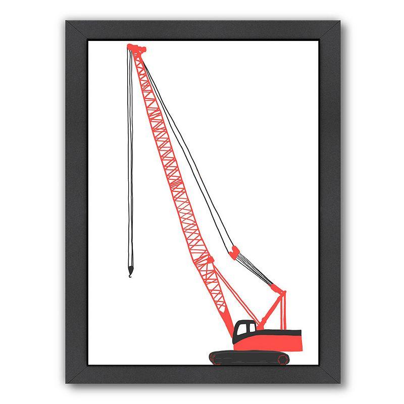 "Americanflat ""Crane"" Framed Wall Art, Medium"