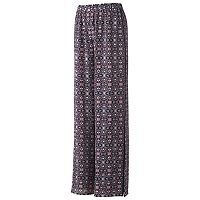 Juniors' Joe B Medallion Print Crepe Pants