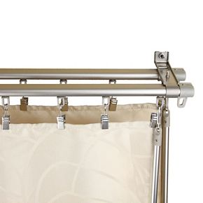 Rod Desyne Armor Wall Mount Adjustable Traversing Double Curtain Track
