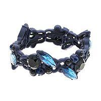 Simply Vera Vera Wang Blue Geometric Stone Stretch Bracelet