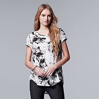 Women's Simply Vera Vera Wang Print High Low Hem Tee